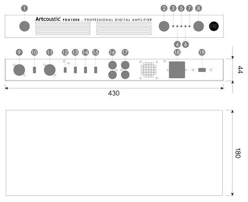 Artcoustic - PDA 1000 Subwoofer Verstärker