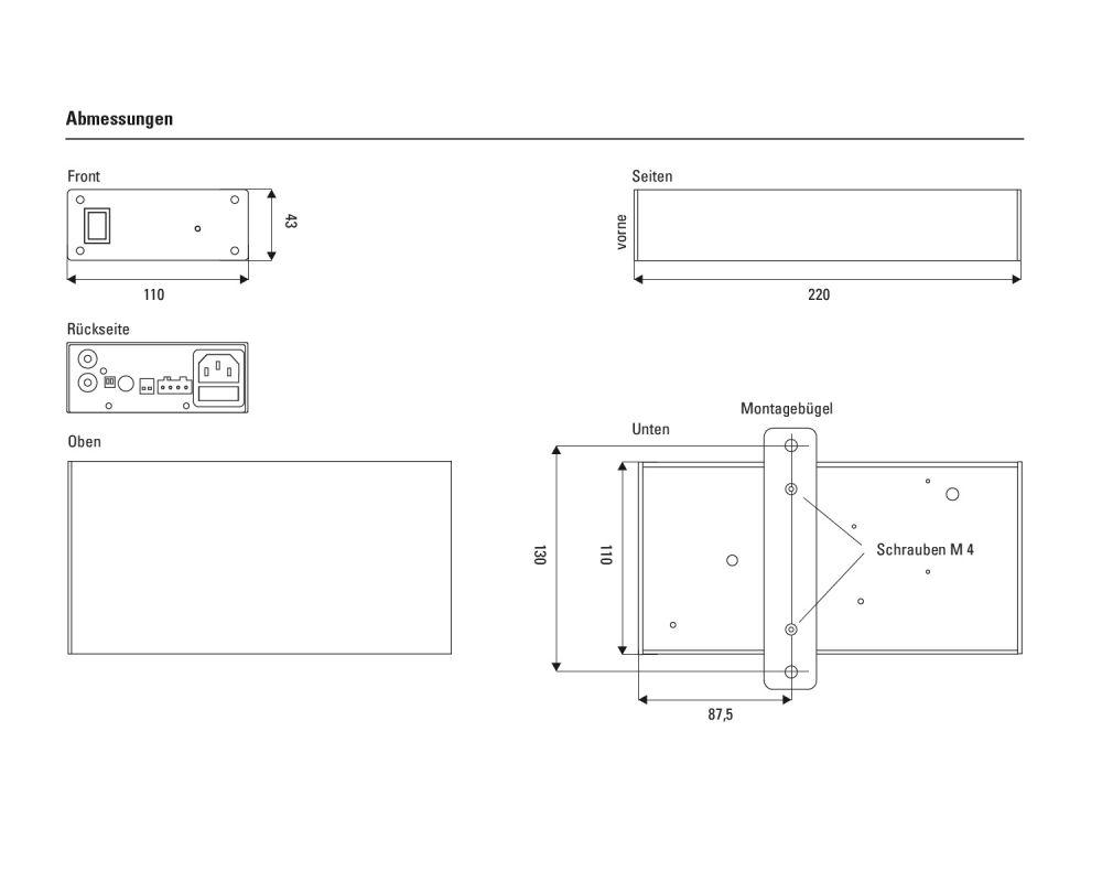 lb lautsprecher - PA 230 kompakter Verstärker