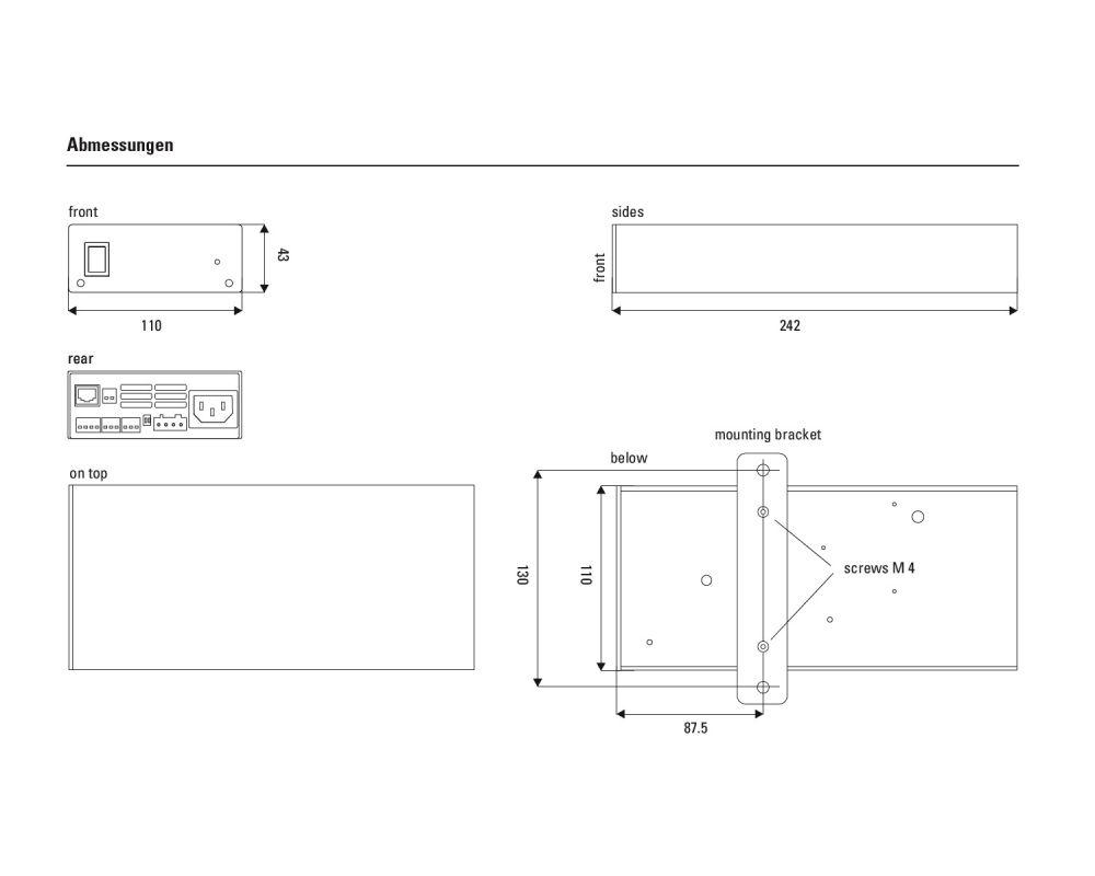lb lautsprecher - PA 250 S-DSC kompakter Verstärker mit DSP